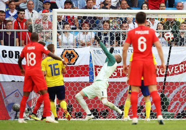 Гол в ворота сборной Швеции