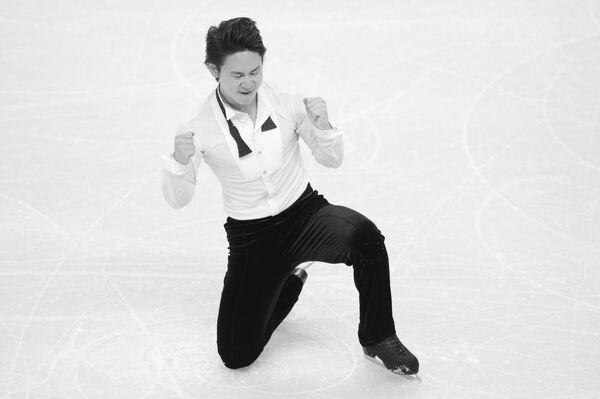 Денис Тен на чемпионате мира по фигурному катанию в канадском Лондоне