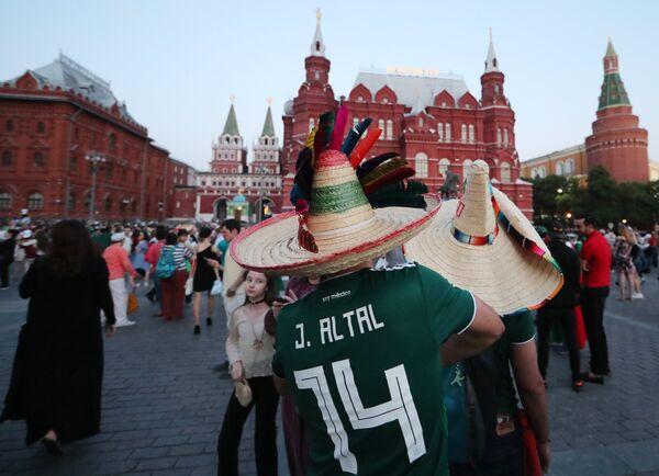 Мексиканские болельщики ЧМ-2018 в Москве. Архивное фото