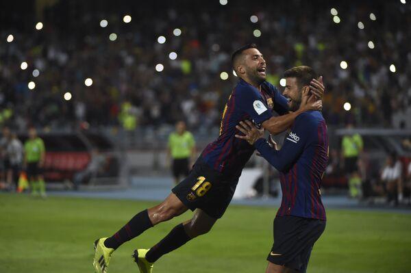 Игроки Барселоны в матче за Суперкубок Испании