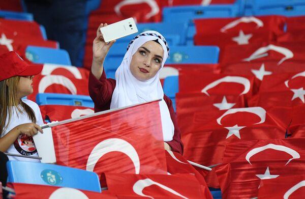 Болельщица сборной Турции