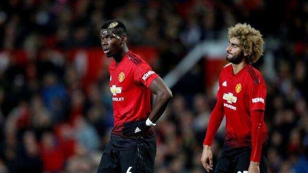 Футболисты Манчестер Юнайтед Маруан Феллайни и Поль Погба (слева направо)
