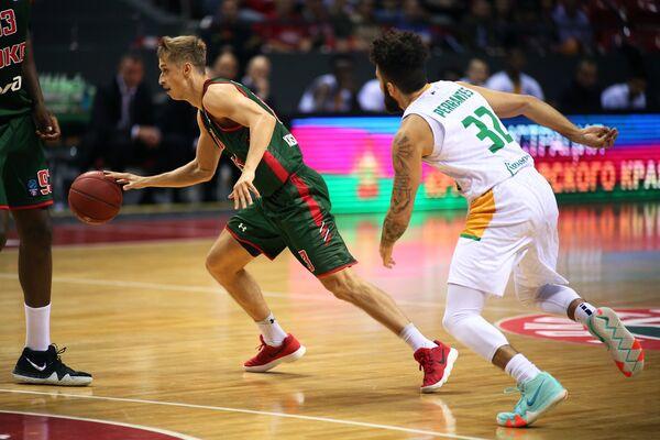 Игровой момент матча Локомотив-Кубань - Лимож