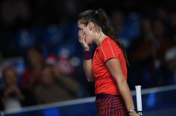 Дарья Касаткина в финальном матче одиночного разряда ВТБ Кубка Кремля против Онс Джабер