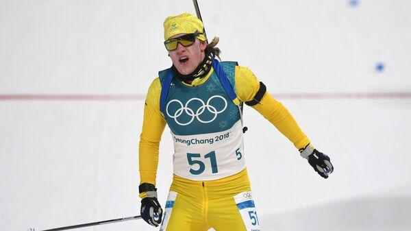 Шведский биатлонист Себастьян Самуэльссон