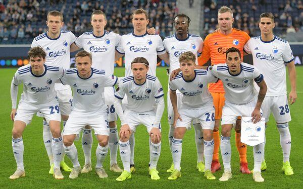 Игроки Копенгагена перед началом матча с Зенитом