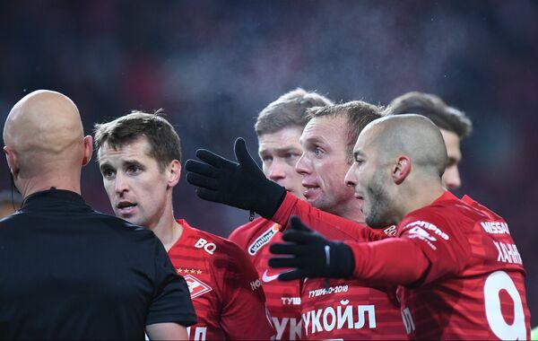 Игроки Спартака Софьян Ханни, Денис Глушаков и Дмитрий Комбаров (справа налево)