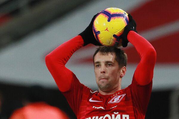 Защитник Спартака Дмитрий Комбаров