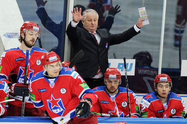 Хоккей. КХЛ. Матч ЦСКА (Москва) – Барыс (Астана)