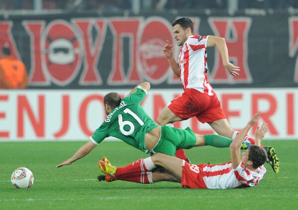 Футбол. Лига Европы. Матч Олимпиакос - Рубин