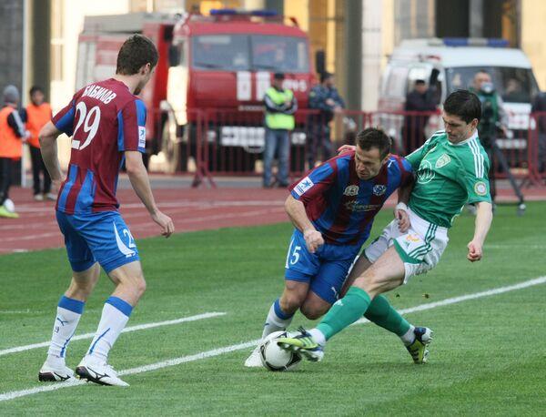 Игровой момент матча Терек (Грозный) - Волга (Нижний Новгород)