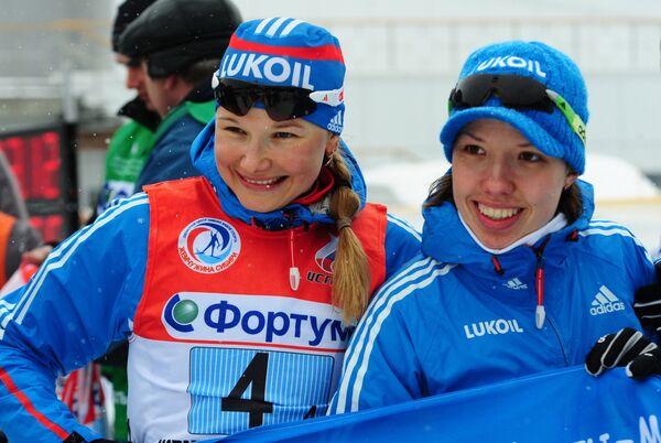 Полина Медведева и Инна Смирнова (слева направо)