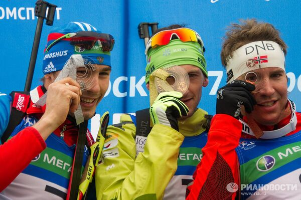 Антон Шипулин, Яков Фак, Эмиль Хегле Свендсен (слева направо)