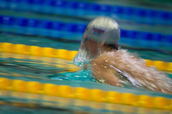 Вячеслав Синькевич на дистанции 100 метров брассом среди мужчин на чемпионате России по плаванию в Москве