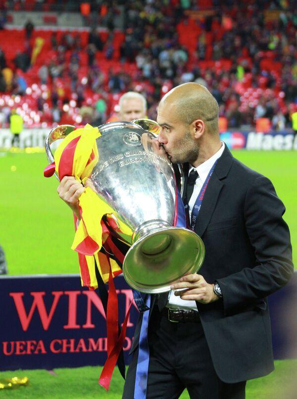 Главный тренер ФК Барселона Хосеп Гвардиола