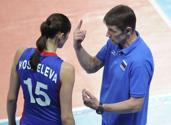 Игровой момент матча Сербия - Россия
