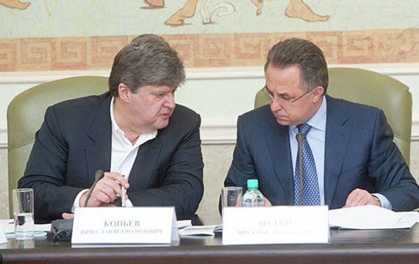 Вячеслав Копьев и Виталий Мутко (слева напрво)