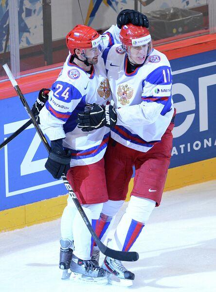 Александр Попов и Евгений Малкин (слева направо)