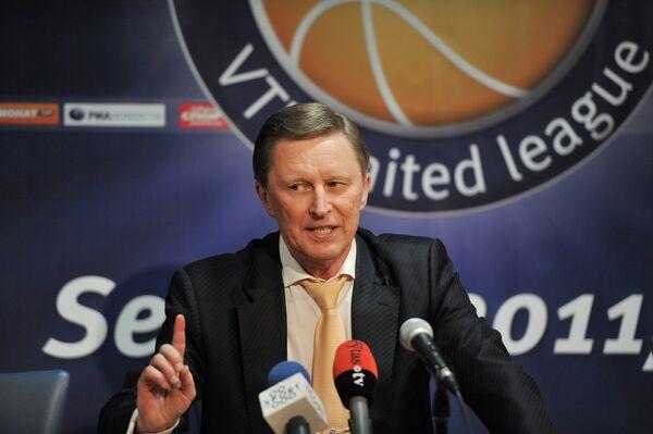 Пресс-конференция Сергея Иванова в Вильнюсе