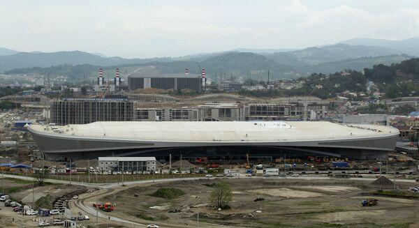 Строительство объектов в олимпийском парке