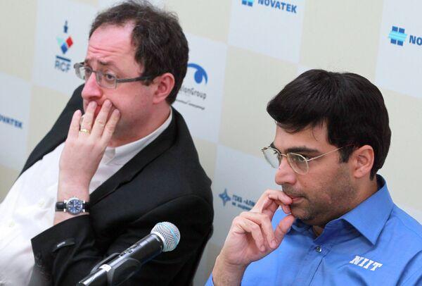 Борис Гельфанд и индийский гроссмейстер Вишванатан Ананд