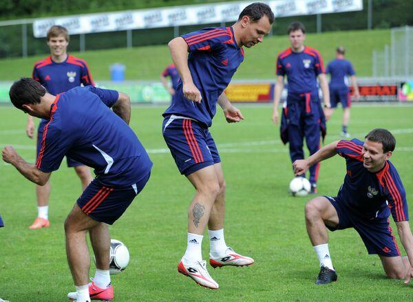 Футбол. Тренировка сборной России в Ньоне