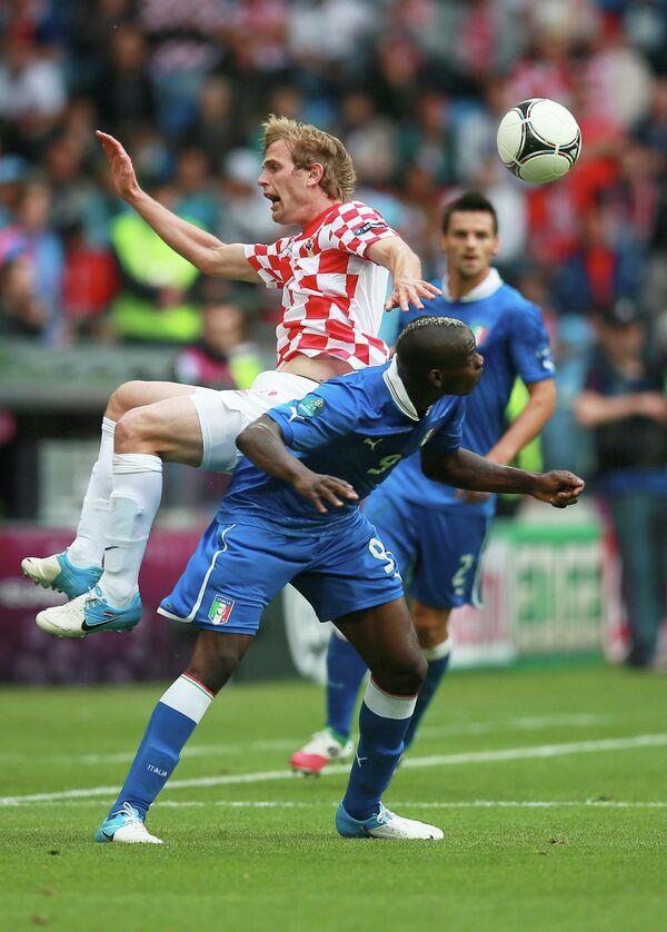 Игровой момент матча сборных Италии и Хорватии