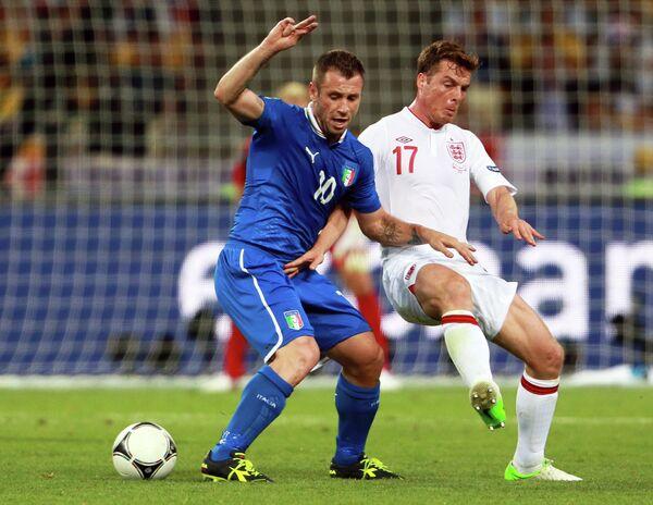 Антонио Кассано и Скотт Паркер (справа)