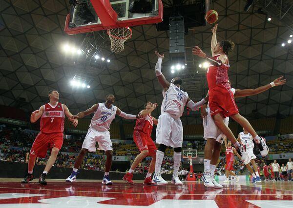 Баскетбол. Квалификация ОИ - 2012. Матч Россия - Доминикана
