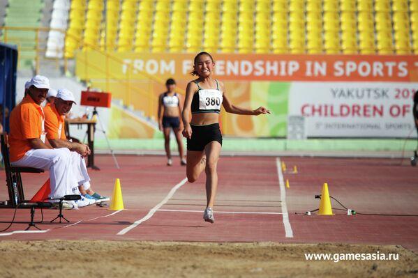 Соревнования по легкой атлетике на V МСИ Дети Азии