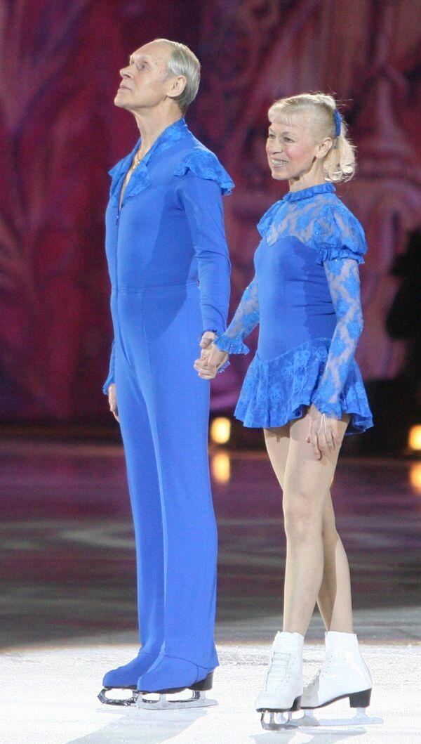 Олег Протопопов и Людмила Белоусова (слева направо)