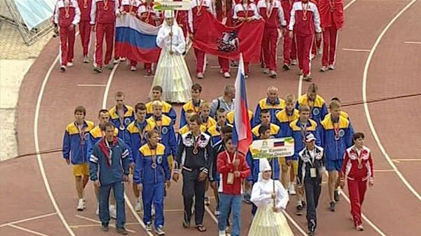 Парад победителей игр Дети Азии. Кадры со стадиона Туймаада в Якутии