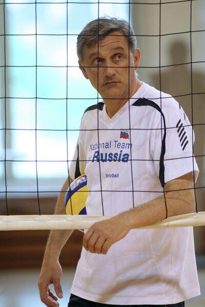Тренировка женской сборной России по волейболу