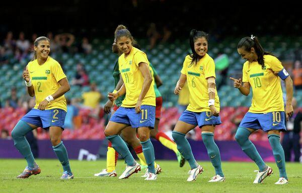 Футболистки сборной Бразилии