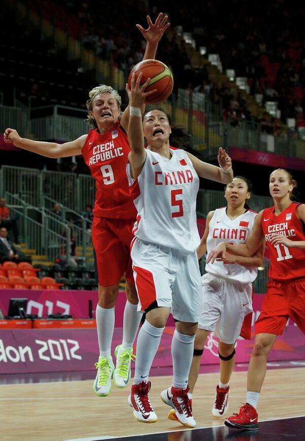 Игровой момент матча Китай - Чехия