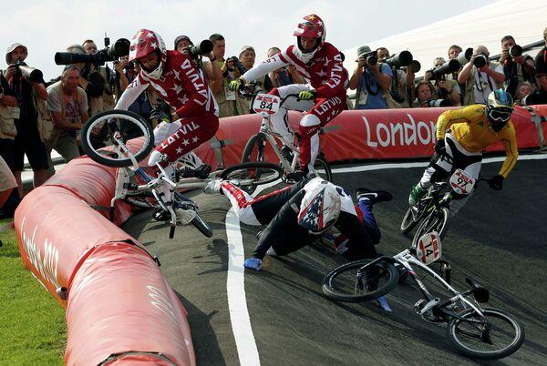 Финальная гонка в дисциплине BMX