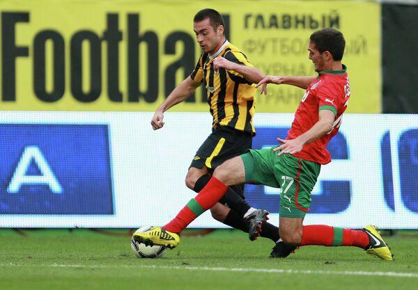 Игровой момент матча Локомотив - Алания