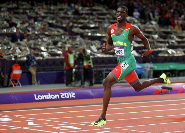 Спортсмен из Гренады, бегун Кирани Джеймс