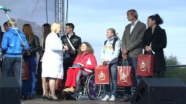 Призера Олимпиады-2012 Софью Очигаву чествуют на Дне города в Одинцово