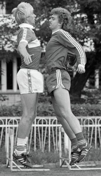 Черенков и Шавло на тренировке
