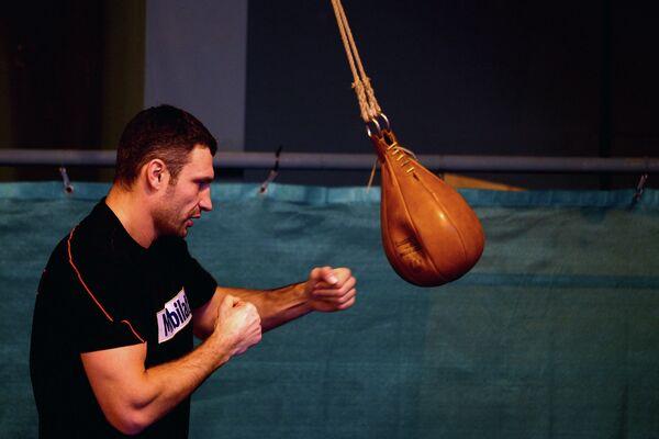 Виталий Кличко в тренировочном лагере братьев Кличко в Австрии