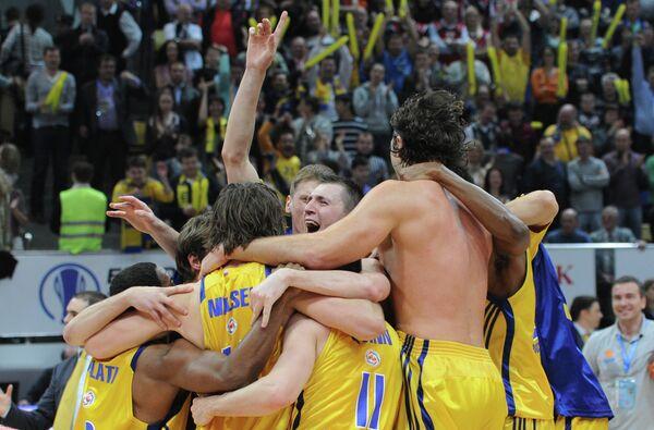 Баскетболисты клуба Химки
