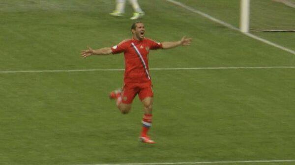 Кержаков забивает победный гол. Лучшие моменты матча Россия - Португалия