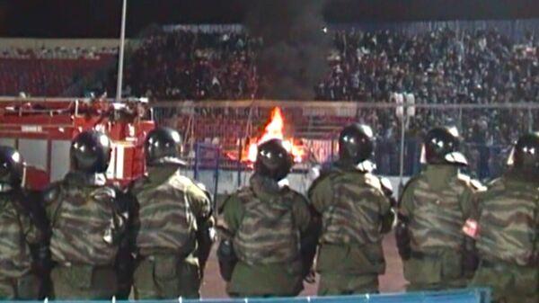 Сожженные кресла оставили после матча с Волгой болельщики Зенита