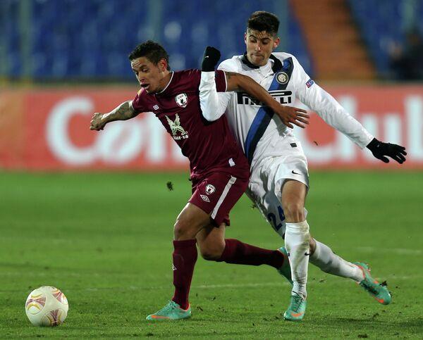 Игровой момент матча Рубин - Интер