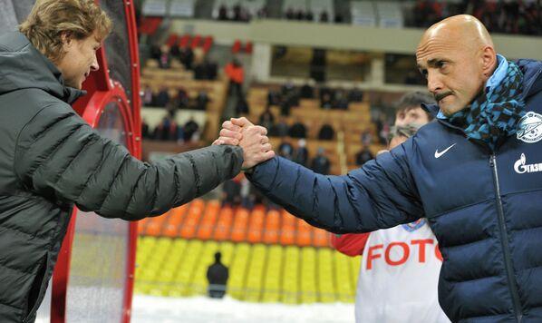 Валерий Карпин и Лучано Спаллетти (слева направо)