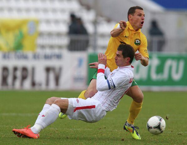 Игровой момент матча Кубань - Алания