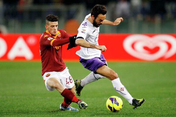Игровой момент матча Рома- - Фиорентина