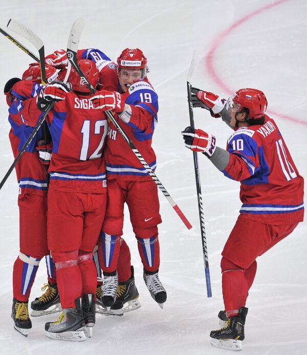 Хоккей. Молодежный ЧМ. Матч Россия - США
