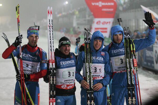 Дмитрий Малышко, Евгений Гараничев, Алексей Волков, Антон Шипулин (слева направо)